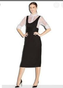 Milly black veronica dress